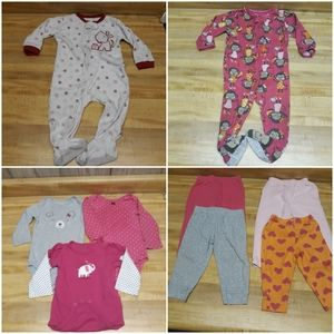 CARTERS Lot of 12 Month Girls Clothes